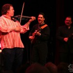 Alfredo de la Fé, violin, Sam Martinez, guitar, Demetrios Kastaris, cow bell, Queens Theatre in the Park, Flushing, Queens, New York, December 15, 2006.