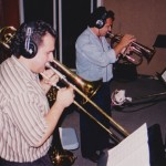 Demetrios Kastaris, Claudio Roditi, Jazz trumpet and flugelhorn virtuoso, Skylight Studio, Belleville, New Jersey. July, 1999, photo credit, Hilda Kastaris.