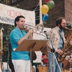 Sunnyside Festival, left, Demetrios Kastaris, right , Frank Basile.   Jeff, can you reduce the size of my wallet?