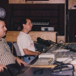 Demetrios Kastaris with master recording engineer John Diaz at Skylight Studio, Belleville, New Jersey, July, 1999.