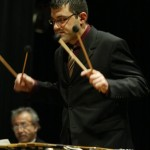 Christos Rafalides, Jazz and Latin virtuoso vibraphonist, Queens Theatre in the Park, Flushing, New York, December 17, 2004, photo by Jerry Lacay.