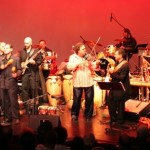 Orquesta Unidad (Christian Salsa) led by conguero Gary Rosario, combines forces with the Latin Jazz Coalition led by Demetrios Kastaris, and guest violinist Alfredo de la Fé, at the Queens Theatre in the Park, Flushing, Queens, New York. December 16, 2006.