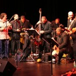 Orquesta Unidad led by conguero Gary Rosario combines forces with the Latin Jazz Coalition led by Demetrios Kastaris and special guest Alfredo de la Fé, at the Queens Theatre in the Park, Flushing, Queens, New York, December 16, 2006.