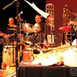 Orquesta Unidad combines with the Latin Jazz Coalition and guest Alfredo de la Fé, at the Queens Theatre in the Park, Flushing, Queens, New York. December 15, 2006.