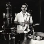 Demetrios Kastaris just before performing at York College, Queens, New York, March 1990, photo by Glenn Reinhart.