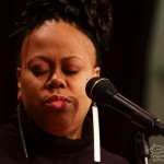 Masterful Gospel Singer, Dawn Tallman at the Langston Hughes Community Library and Cultural Center in Corona Queens, November 2, 1013, photo by Norm Harris.
