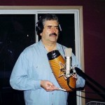 "Johnny ""Dandy"" Rodriguez Jr., musical director of the Tito Puente Orchestra, bongo player, güiro player, percussionist."