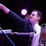Demetrios Kastaris conducts, Queens Theatre in the Park, Flushing, New York, December 17, 2004, photo by Jerry Lacay.