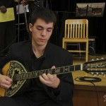 Theofilos Katechis, bouzouki player, Katharí Record Release Concert at the Langston Hughes Community Library and Cultural Center in Corona Queens, November 2, 1013, photo by Norm Harris.