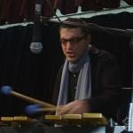 Christos Rafalides, vibraphonist, Katharí Record Release Concert at the Langston Hughes Community Library and Cultural Center in Corona Queens, November 2, 1013, photo by Norm Harris.
