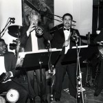 Far left, Latin Music Legend: Ray Barretto, Flushing Town Hall, Grand Opening Celebration of Flushing Town Hall Jazz Cafe, May 20, 1993. Photo by Juan Torrico.