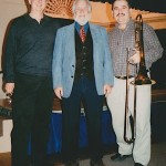Left to right: Jim Pugh, John Marcellus, (Professor of Trombone at the Eastman School of Music), Demetrios Kastaris.