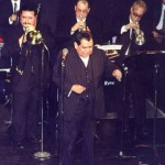 Salsa vocal legend Vitín Avilés at the Point in Hunts Point, South Bronx, New York. February 4, 2000.