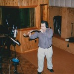 Demetrios performs the shofar for a Messianic Jewish recording, Tiki Studios, Long Island, New York. September, 2002.