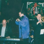 Left to right, Guillermo Edghill, Larry Harlow, (El Judillo Maravilloso), Alfredo de la Fé , Demetrios Kastaris.