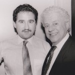 Left, Demetrios Kastaris, right Tito Puente, February 27, 1990.