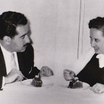 """Panagiotis Kastaris and Georgia Skouras on their """"one and only date"""" shortly before their marriage. They were married in an arranged marriage as part of a Greek tradition at that time. December, 1955."""