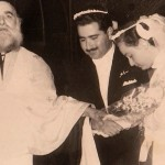The wedding ceremony. Panagiotis marries Georgia on December 26, 1955.