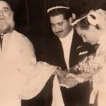 The wedding ceremony. Panagiotis marries Georgia on December 26, 1955.