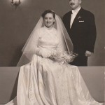 More posed wedding pictures, Panagiotis and Georgia Kastaris, December 26, 1955.