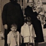 Kastaris family in Thessaloniki, Greece around 1961. I am standing just below dad, next to me is Penelope (Penny), Euripides (Rip) is in mom's arm's.