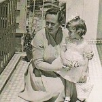 Mrs. Georgia Kastaris and daughter Penny in Thessaloniki, Greece, around 1961.