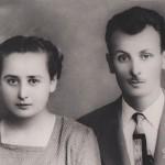 Left: Demetrios's mother Georgia (Maiden name Skouras) and right: her brother Kostantinos Skouras in Patissia (Athens) Greece. Mid 1940's.