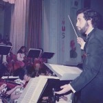Demetrios in his first job as String Orchestra Director, William Cowper Intermediate School 73, Maspeth, Queens, New York City Department of Education, 1984. Demetrios began teaching at IS 73 in 1982 but did not begin teaching music until 1984.