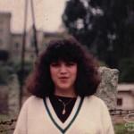 Hilda Mercedes Bastidas in a small town outside of her native capital city of Santa Fé de Bogotá, Colombia, South America.