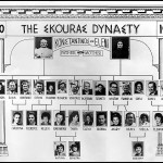The Skouras Dynasty family tree from 1850 to 1970 prepared by Evan (Evangelos) Skouras in 1970.