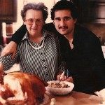 Demetrios poses with mom (Georgia Kastaris) at Thanksgiving in Reverend and Georgia Kastaris's new home in Canton, Ohio.