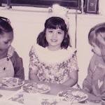 Kathryn Kastaris poses at her birthday party in elementary school.