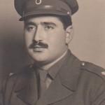 Panagiotis Kastaris as an officer (Lieutenant) in Kozani, Greece, Early 1950's.