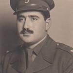 Panagiotis Kastaris as an officer (Lieutenant) in Kozani, Greece, Early 1950's.