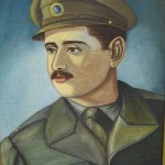 Painting of  Panagiotis Kastaris in Kozani, Greece, Early 1950's.