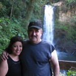 Hilda and Demetrios, Costa Rican Water Falls, Central America, December 2013.