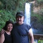 Hilda and Demetrios, Costa Rican Water Falls, Central America, December 2013.
