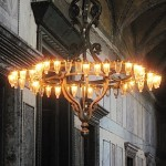 Large Chandelier in Agia Sophia, Istanbul Turkey, September, 2014, photo credit: Demetrios Kastaris.