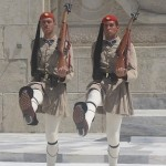 Two marching Evzones, Athens, Greece, photo credit: Demetrios Kastaris, September, 2014.