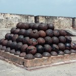 Puerto Rico, Canon Balls atop Fortress, July, 2015, photo credit, Demetrios Kastaris.